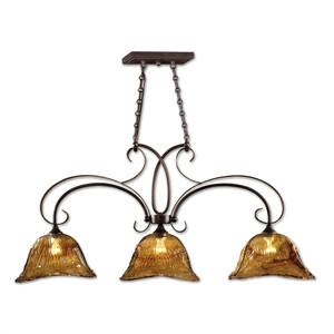 Uttermost Vetraio 3 Lt Bronze Kitchen Island Light