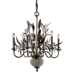 Uttermost Cristal De Lisbon 6+2 Light Chandelier