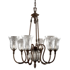 Uttermost Galeana 6 Light Iron Chandelier
