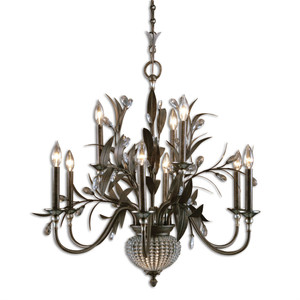 Uttermost Cristal De Lisbon 9+2 Light Chandelier