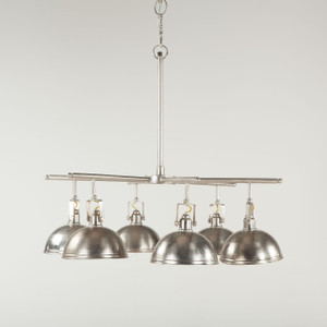 Steampunk Industrial Loft 6 Light Chandelier - Antique Nickel