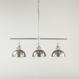 Steampunk Industrial Loft 3 Light Chandelier - Nickel
