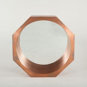 "Steampunk Industrial Octagonal Mirror 34""- Copper"