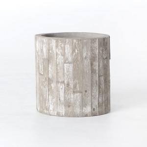 "White Washed Concrete Planter 18"""