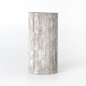 "White Washed Concrete Planter 31"""