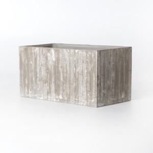 White Washed Concrete Trough Planter