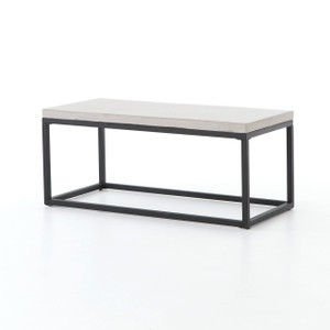 "Maximus Indoor / Outdoor Coffee Table 40"" - Natural Concrete"
