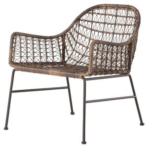 Bandera Gray Woven Wicker Outdoor Club Chair