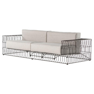 Torrance Woven Vintage Metal Indoor Outdoor Sofa
