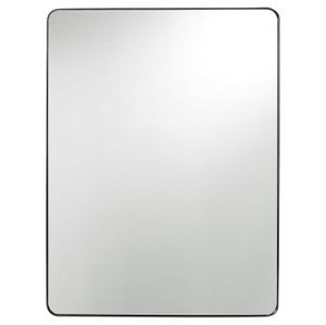 Modern Hollywood Regency Brushed Brass Rectangle Mirror