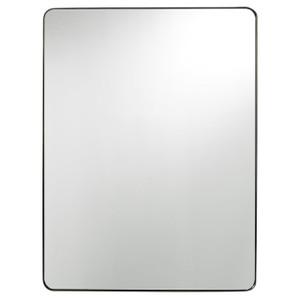 Modern Hollywood Regency Brushed Brass Rectangle Mirror