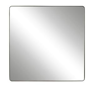 Modern Hollywood Regency Square Mirror - Bronze