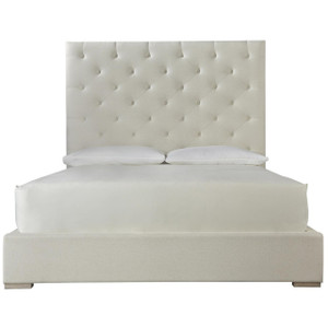 Modern Box-Tufted Panel Upholstered Platform California King Bed