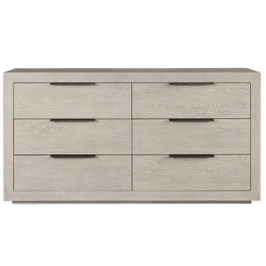Modern Grey Oak Huston 6 Drawer Dresser 70""