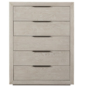 Modern Grey Oak Huston 5 Drawers Tall Chest