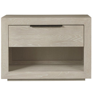 Modern Grey Oak Huston 1 Drawer Nightstand