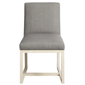 Carter Modern Grey Oak Upholstered Side Chair