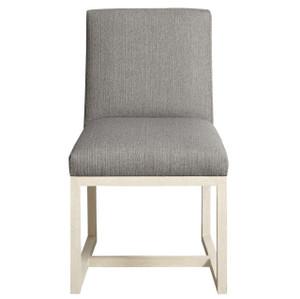 Carter Modern Grey Oak Upholstered Side Chair