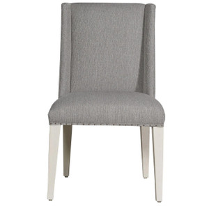 Tyndall Modern Grey Oak Upholstered Side Chair