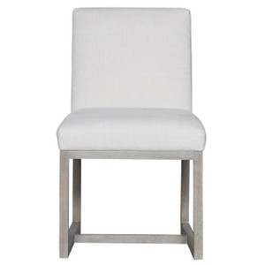 Carter Belgian Linen Upholstered Modern Dining Chair