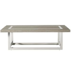 Wyatt Modern Oak Wood + Stainless Steel Cocktail Table
