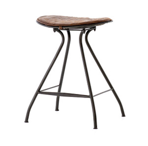 Ryder Saddle Vintage Leather + Iron Counter Stool