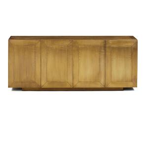 Freda Brass Clad Wrapped Industrial Buffet Sideboard