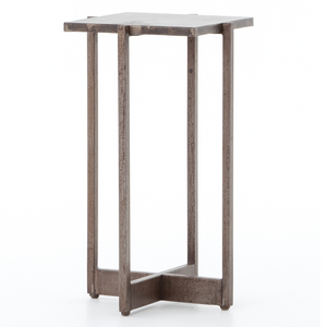 Roman Industrial Iron Square Accent Table