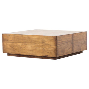 Duncan Reclaimed Wood Square Storage Coffee Table