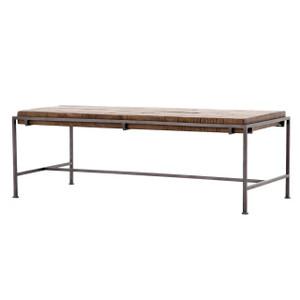 Barton Iron Leg Slab Wood Top Coffee Table