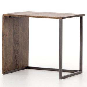 Indie Modern Industrial Iron + Wood Side Table