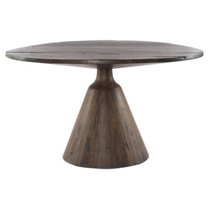 Bronx Old Wood Round Pedestal Dining Table 54""