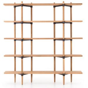 Danish Mid-century Modern Drift Oak Bookshelf