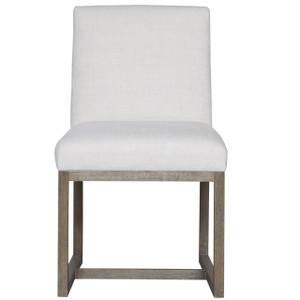 Jamison Belgian Linen Upholstered Modern Dining Chair