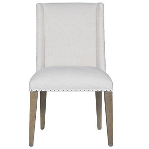 Jamison Belgian Linen Upholstered Wing Dining Chair