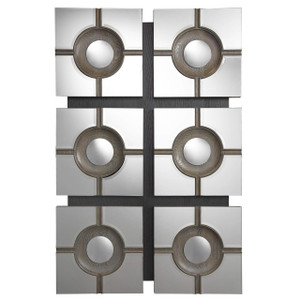 Modern Hollywood Regency Geometric Accent Mirror