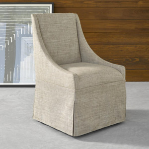 Gibson Modern Nutmeg Fabric Skirted Dining Chair