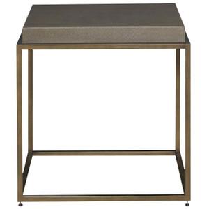 Portobello Modern Shagreen Bronze Square End Table