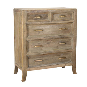 Amelie Solid Wood 5 Drawers Tall Dresser