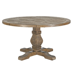 Farmhouse Reclaimed Wood Pedestal Round Table 55""