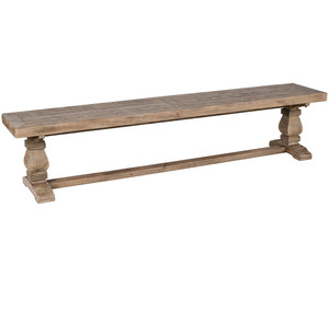 Farmhouse Reclaimed Wood Trestle Bench 83""