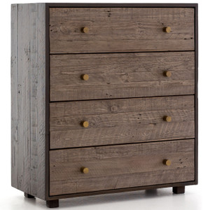 Calais Reclaimed Wood 4 Drawers Dresser - Rustic Brown