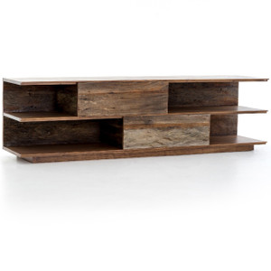 Craig Reclaimed Peroba Wood Large Media Console