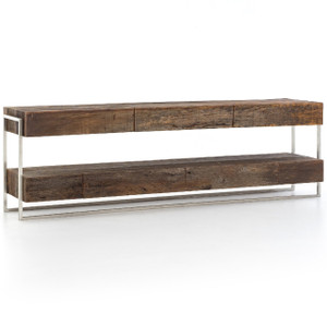 Carson Reclaimed Peroba Wood Long Media Console 84""