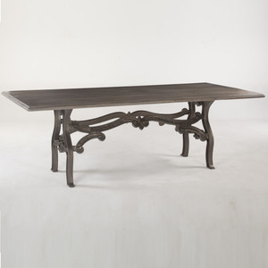 Hobbs Dutch Industrial Iron & Wood Dining Table 90""