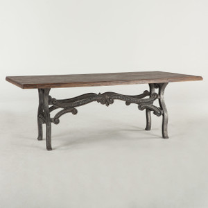 Hobbs French Industrial Dining Room Table 84""