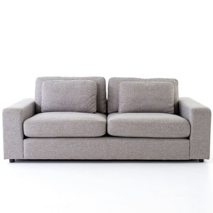 Bloor Contemporary Gray Fabric Upholstered 2 Cushion Sofa 82""