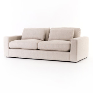 "Bloor Beige Natural Linen Upholstered 2 Cushion Sofa  82"""