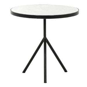 Cash Antique Mirrored Top Round End Table