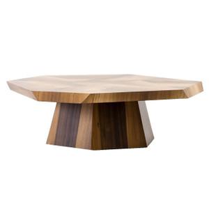 "Brooklyn Organic Yukas Wood Octagon Coffee Table 53"""